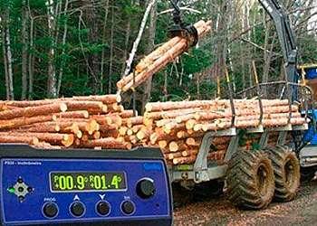 Inclinômetro para máquinas florestais